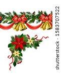 vector christmas border... | Shutterstock .eps vector #1583707522