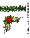 vector christmas border... | Shutterstock .eps vector #1583707528