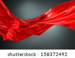 abstract silk red cloth motion... | Shutterstock . vector #158372492