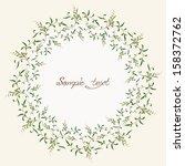 romantic wreath. vector... | Shutterstock .eps vector #158372762