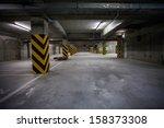 underground garage. interior... | Shutterstock . vector #158373308