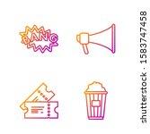 set line popcorn in cardboard... | Shutterstock .eps vector #1583747458