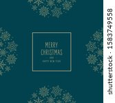 christmas snowflakes elements... | Shutterstock .eps vector #1583749558