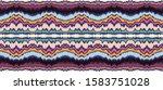 ikat border. geometric folk... | Shutterstock .eps vector #1583751028