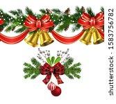 vector christmas border... | Shutterstock .eps vector #1583756782