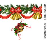 vector christmas border... | Shutterstock .eps vector #1583756785