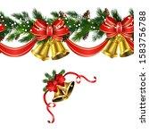 vector christmas border... | Shutterstock .eps vector #1583756788