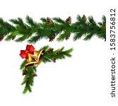 vector christmas border... | Shutterstock .eps vector #1583756812