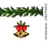 vector christmas border... | Shutterstock .eps vector #1583756815