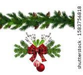 vector christmas border... | Shutterstock .eps vector #1583756818