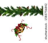 vector christmas border... | Shutterstock .eps vector #1583756842