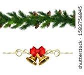 vector christmas border... | Shutterstock .eps vector #1583756845