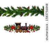 vector christmas border... | Shutterstock .eps vector #1583756848