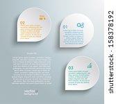 infographic design white...   Shutterstock .eps vector #158378192