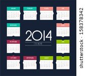 calendar 2014   flat design