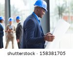 young african male architect... | Shutterstock . vector #158381705