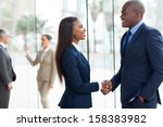 professional african business... | Shutterstock . vector #158383982