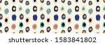 polka dot pattern. ikat... | Shutterstock .eps vector #1583841802