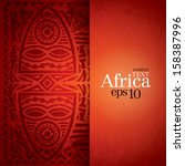 african background design... | Shutterstock .eps vector #158387996
