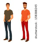 illustration of a young... | Shutterstock .eps vector #158388245