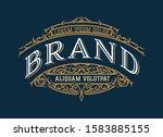 vintage luxury logo template... | Shutterstock .eps vector #1583885155