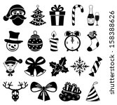 vector. christmas set. | Shutterstock .eps vector #158388626