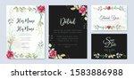 wedding invitation designs with ... | Shutterstock .eps vector #1583886988