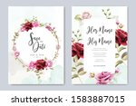 wedding invitation designs with ... | Shutterstock .eps vector #1583887015