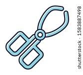 crucible tongs blue color icon. ...   Shutterstock .eps vector #1583887498