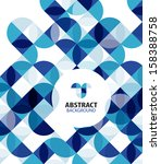 blue circles geometrical...   Shutterstock .eps vector #158388758