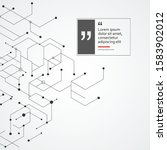 vector connect lines and dots....   Shutterstock .eps vector #1583902012