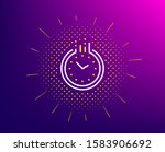 time management line icon....