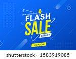 flash sale discount banner... | Shutterstock .eps vector #1583919085