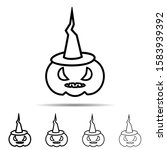 pumpkin with witch hat...