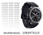 smartwatch isolated on white.... | Shutterstock . vector #1583973115