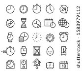 clock line icons set. vector... | Shutterstock .eps vector #1583979112