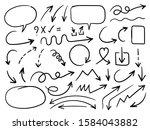 hand drawn arrow vector icons...   Shutterstock .eps vector #1584043882
