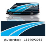 van car decal wrap design vector | Shutterstock .eps vector #1584093058