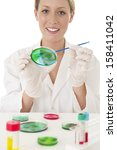 medical laboratory analysis of... | Shutterstock . vector #158411042
