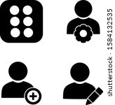 set of 4 universal icons on...