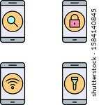 4 set of mobile apps icons...