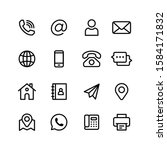 contact us vector line icons... | Shutterstock .eps vector #1584171832