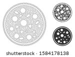 mesh entire pizza model with...   Shutterstock .eps vector #1584178138