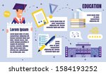 university education flat... | Shutterstock .eps vector #1584193252