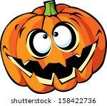 scary halloween pumpkin cartoon   Shutterstock .eps vector #158422736