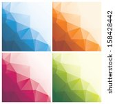 set of abstract geometric... | Shutterstock .eps vector #158428442