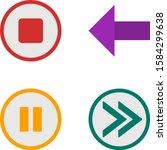 4 icon set of basic elements...
