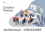 business landing page template... | Shutterstock .eps vector #1584324085