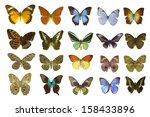 butterfly on white | Shutterstock . vector #158433896