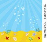underwater background with... | Shutterstock .eps vector #158434556